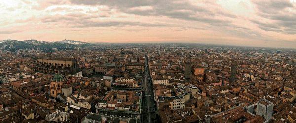 Panorama di Bologna, torre degli Asinelli