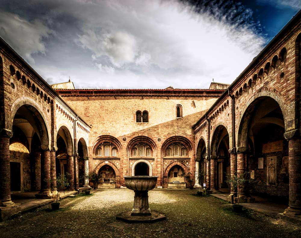 Pilate Courtyard, seven churches, Bologna, Italy